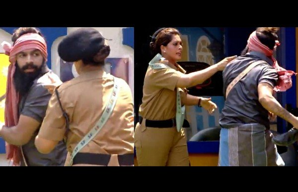Bigg Boss Malayalam 3: Sai Vishnu Gets Aggressive Again; Pushes Sajna Firoz During Task